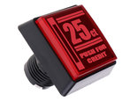 50x50mm-Push-For-Credit-Vierkante-HP-Led-Arcade-Drukknop-Rood-voor-Arcade-Pinball-Spel-Show-Quiz-Cabinets-etc