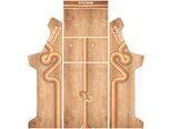 Arcade-Bartop-+-Onderstel-Vinyl-Stickerset-Arcade-Classics-in-Wood-Look-Design