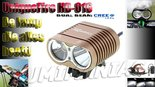 UniqueFire-Dual-Beam-HD-016-CREE-XM-L-U2-4000-Lumen-Bikelight-Licht-Bruin