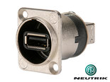 Neutrik-NAUSB-W-USB-A-naar-B-Verloop-Omkeerbaar-Zilver