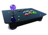 Seimitsu-+-Sanwa-Arcade-PC-Raspberry-Pi-Fight-Stick-met-Zwart-Plexiglas-Bovenplaat