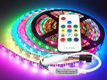 5M-Neopixel-+-Remote-Controller-WS2812B-Digitale-RGB-Led-Strip-Ultra-Bright-SMD5050-5V-IP65-300-Leds