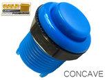 HQ-Super-Silent-Concave-Classic-Gold-Leaf-Arcade-Drukknop-Blauw
