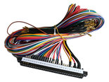 2-Player-JAMMA-Gelabelde-Pin-Out-Kabelboom-56-pins-met-28mm-Button-Connectors