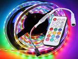 5m-12V-Premium-WS2811-IP20-Digitale-RGB-led-Strip-300-leds-+-Remote