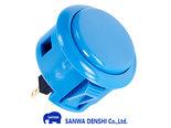 Sanwa-Denshi-OBSF-24-Snap-In-Arcade-Drukknop-Blauw