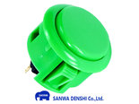 Sanwa-Denshi-OBSF-24-Snap-In-Arcade-Drukknop-Groen