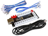 Easyget 5V USB 1-Player PC Raspberry Pi PS3 Interface Board / Game Controller 14x 4,8mm joystick & button connectors_53
