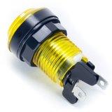 Transparante Led Arcade Drukknop 'Select' Geel 33mm / Boormaat 24-28mm _53