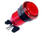 Transparante Led Arcade Drukknop '25ct' Rood 33mm / Boormaat 24-28mm _51
