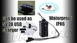 Bike Light Power Box Panasonic Li-ion 18650 6700mAh 6,7A Waterproof_20