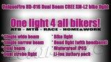 UniqueFire Dual Beam CREE XM-L U2 4000 Lumen Bikelight Zwart_20