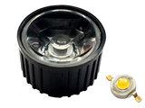 30 Graden PMMA Reflector Lenskap voor 1W 3W 5W High Power Leds Zwart_17