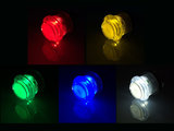 Super Silent Gold-Leaf 5V Led Drukknop 27mm, Boormaat 24mm Rood_53