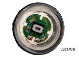 Super Silent Gold-Leaf 5V Led Drukknop 27mm, Boormaat 24mm Groen_53