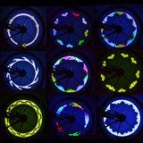RGB 14 leds Spoke Light Spaakverlichting met 2-zijdige Projectie en 30 Patronen  _21