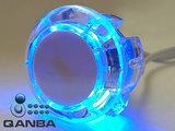 QANBA 30MM Crystal Clear Snap-in Drukknop met Blauwe 5V Leds_20