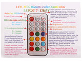 21-knops Digital LED Strip RF Remote Controller voor WS2811/WS2801/LPD6803/WS2812B/2813 5-24V Led Strips_21