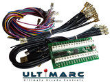 Ultimarc IPAC 2 USB Keyboard Encoder Interfase Board Inclusief Bedrading Set met 2,8mm en 4,8mm Connectors  _18