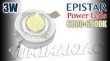 10.000K Epistar 3W 700mA High Power Led Cool White 280lm_18