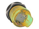 """Silent """"Select"""" 5V Gold-Leaf Led Arcade Drukknop Geel_18"""