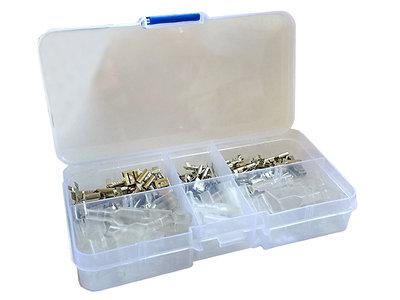270-delig Male/Female Assortiment Kabelschoentjes in Handig Opbergdoosje 2,8mm/4,8mm/6,4mm