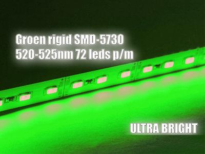 50cm Aluminium Led Bar 12V SMD5730 groen 520-525nm 36 Leds 0,75A