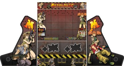 Wide Body Bartop Vinyl Stickerset 'Metal Slug'
