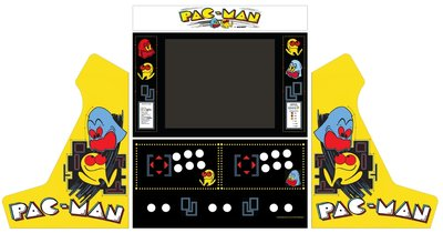 Wide Body Bartop Vinyl Stickerset 'Pac-Man'