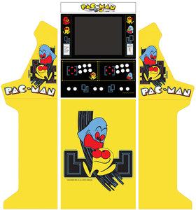 Wide Body Bartop + Onderstel Vinyl Stickerset 'Pac-Man'