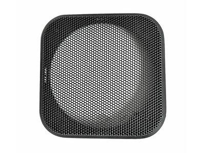 Vierkante Luidsprekerafdekking voor 4-inch Luidsprekers Zwart 108x108mm