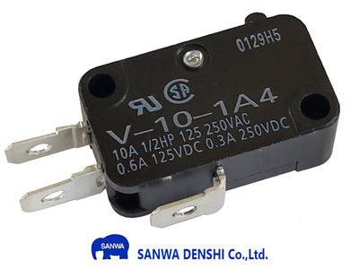 Sanwa MS-O-3 Microswitch met 4.8mm Aansluitterminals NO/NC