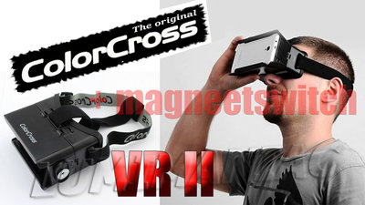 ColorCross VR II Bril met magneetswitch / Virtual Reality