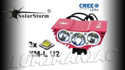 Solarstorm X3 MTB ATB 5000lm High Power CREE LED Koplamp Rood