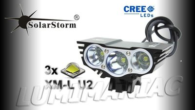 Solarstorm X3 MTB ATB 5000lm High Power CREE LED Koplamp Zwart