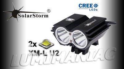 Solarstorm X2 MTB ATB 4000lm High Power CREE LED Koplamp Zwart