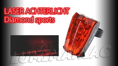 Diamonds Sports Laser + Led Achterlicht