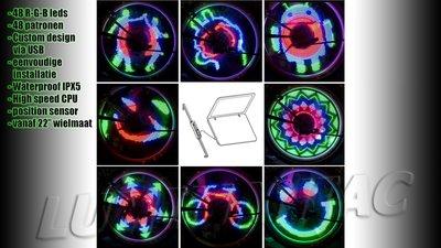 48 Leds 48 Patronen Bicycle Wheel Light, ook Zelf Programmeerbaar!