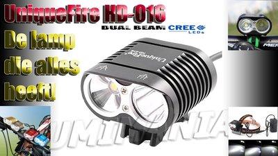 UniqueFire Dual Beam CREE XM-L U2 4000 Lumen Bikelight Zwart