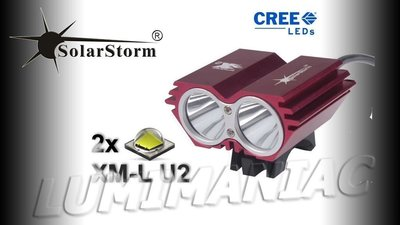 Solarstorm X2 MTB ATB 4000lm High Power CREE LED Koplamp Rood