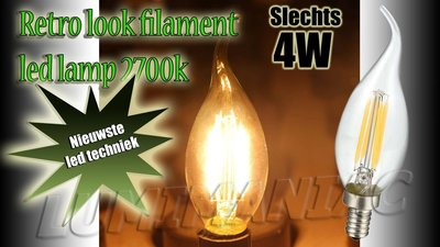 E14 Filament LED Lamp Kaarslamp 4W 500 lm 2700 K