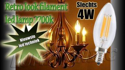 E14 Filament LED Lamp Peerlamp Dimbaar 4W 500 lm 2700 K