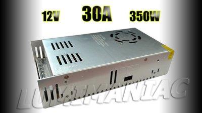 12V 30A 350W Schakelende CV Inbouw Voeding 110~240V