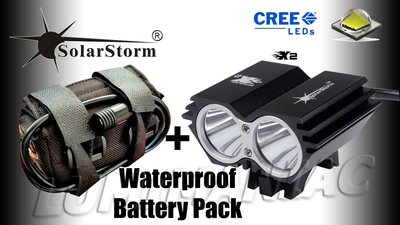 Solarstorm X2 MTB ATB 4000lm High Power CREE LED Koplamp Zwart