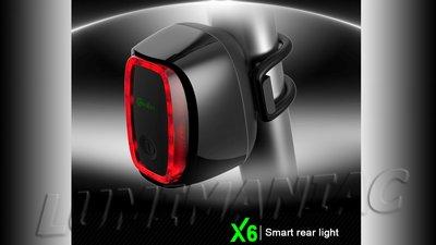 Meilan X6 intelligent achterlicht met oplaadbare Li-ion accu