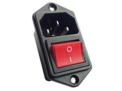 Power Switch IEC320 met C14 Aansluitcontact 4-Polige DPST aan/uit Schakelaar