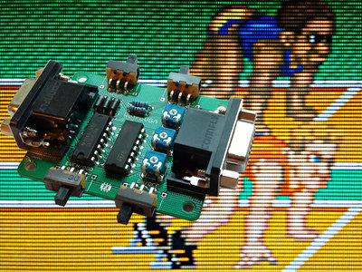 VGA Scanline Generator + RGB correctie, Voor Een Authentieke CRT Look!