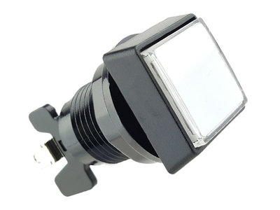 Vierkante 33mm High Profile LED Drukknop Wit voor Arcade Mame Quiz Gokkast Button Box etc.