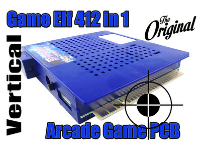 Game Elf Vertical 412 in 1 Arcade Classic PCB met Jamma Connector