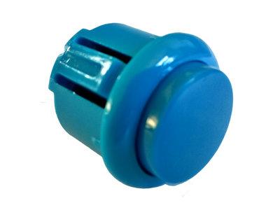 24mm Clip-In Arcade Drukknop Blauw met ingebouwde Soft Click Microswitch